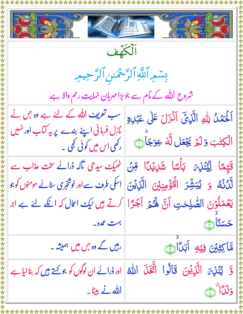 Surah Kahf Read Online with Urdu Translation