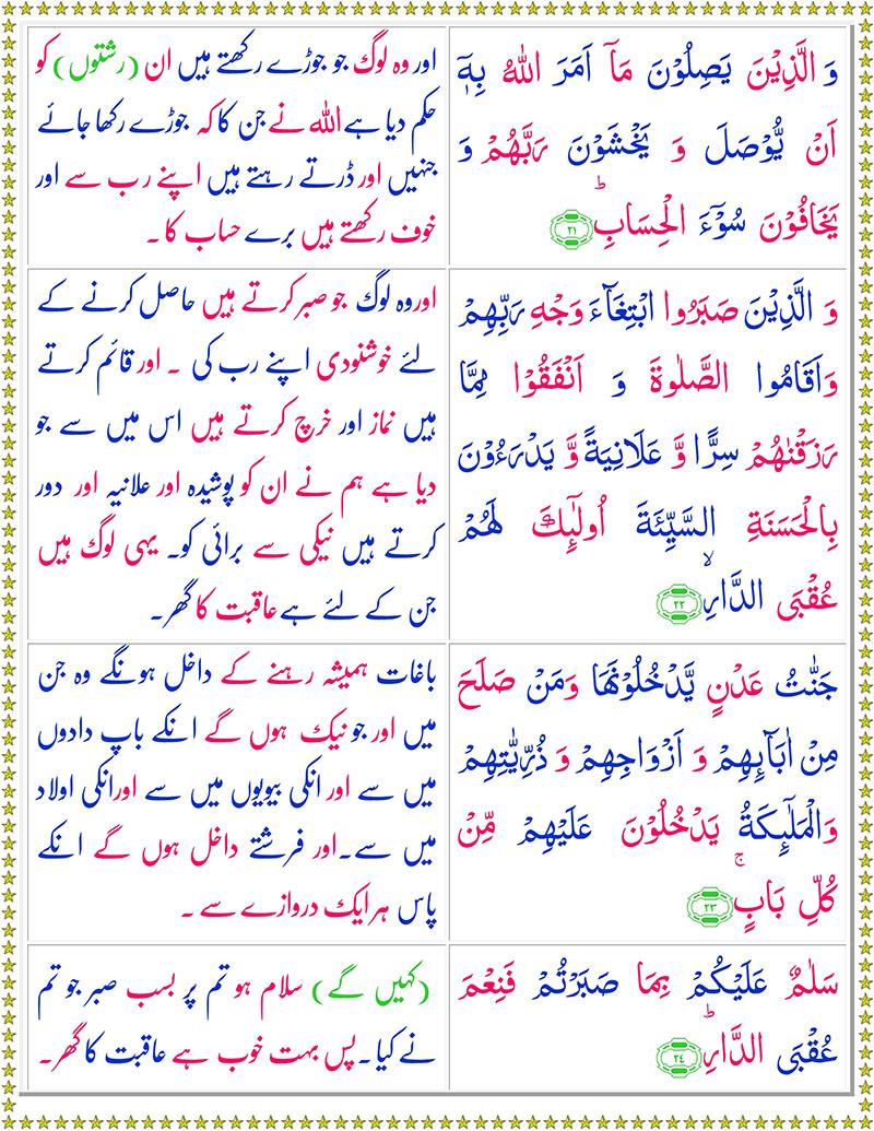 Read Surah Ar-Rad Online