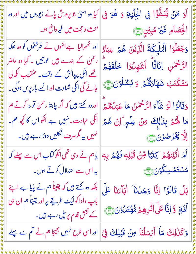 Read Surah Az-Zukhruf Online
