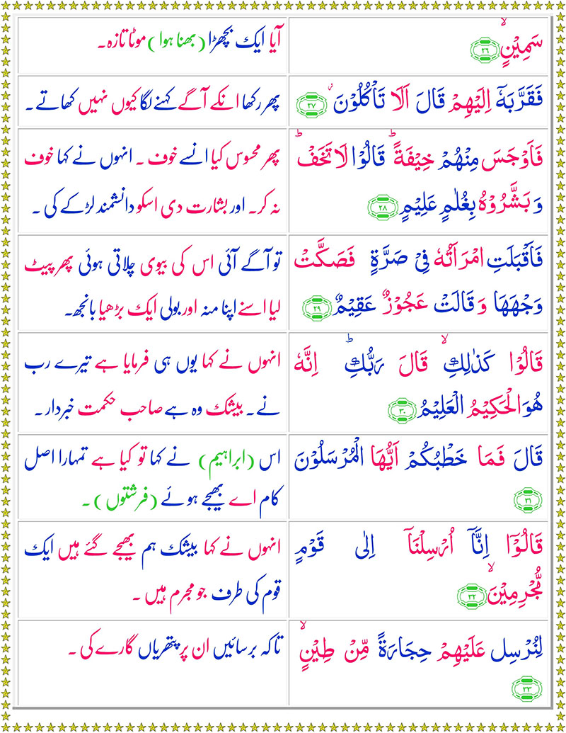 Read Surah Az-Zariyat Online